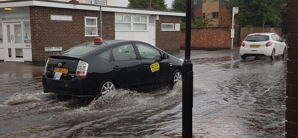 Flash flooding hits parts of Gedling borough…again!