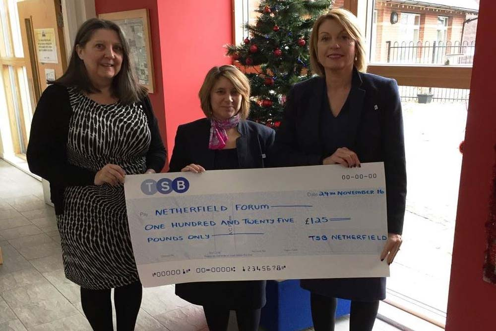 Netherfield branch of TSB help fund Christmas meal for pensioners
