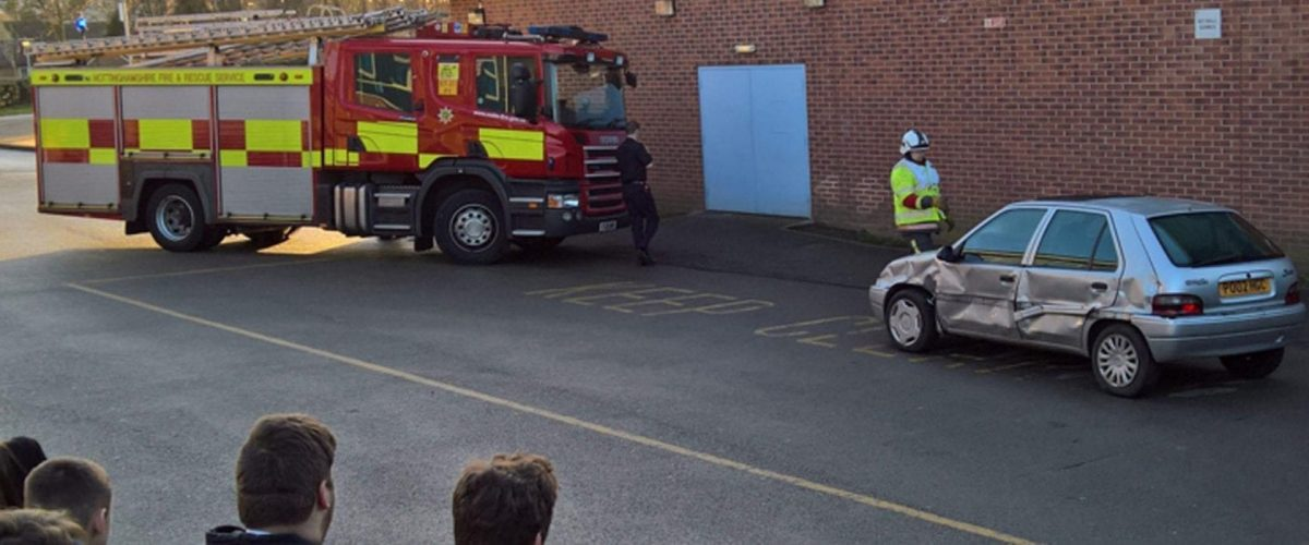 Firefighters educate Carlton students on road safety