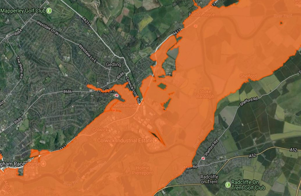 Flood alert issued to villages in Gedling borough as river levels rise