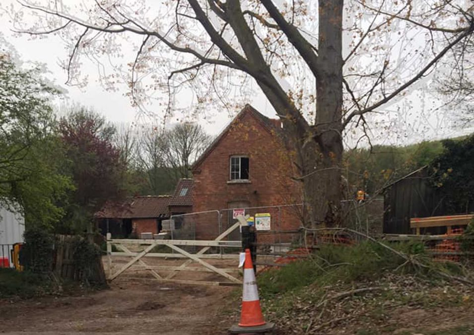 Bat house being built and farm buildings to be demolished to make way for Gedling Access Road