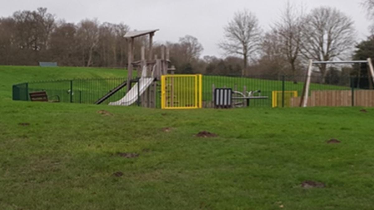 Playground set on fire at James Seely Playing Field in Calverton
