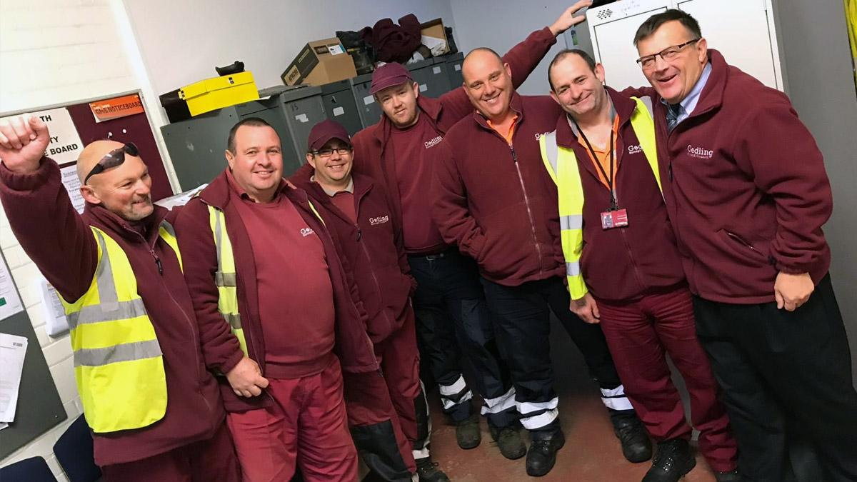 Flood teams in Gedling borough work through the night to help keep water levels down