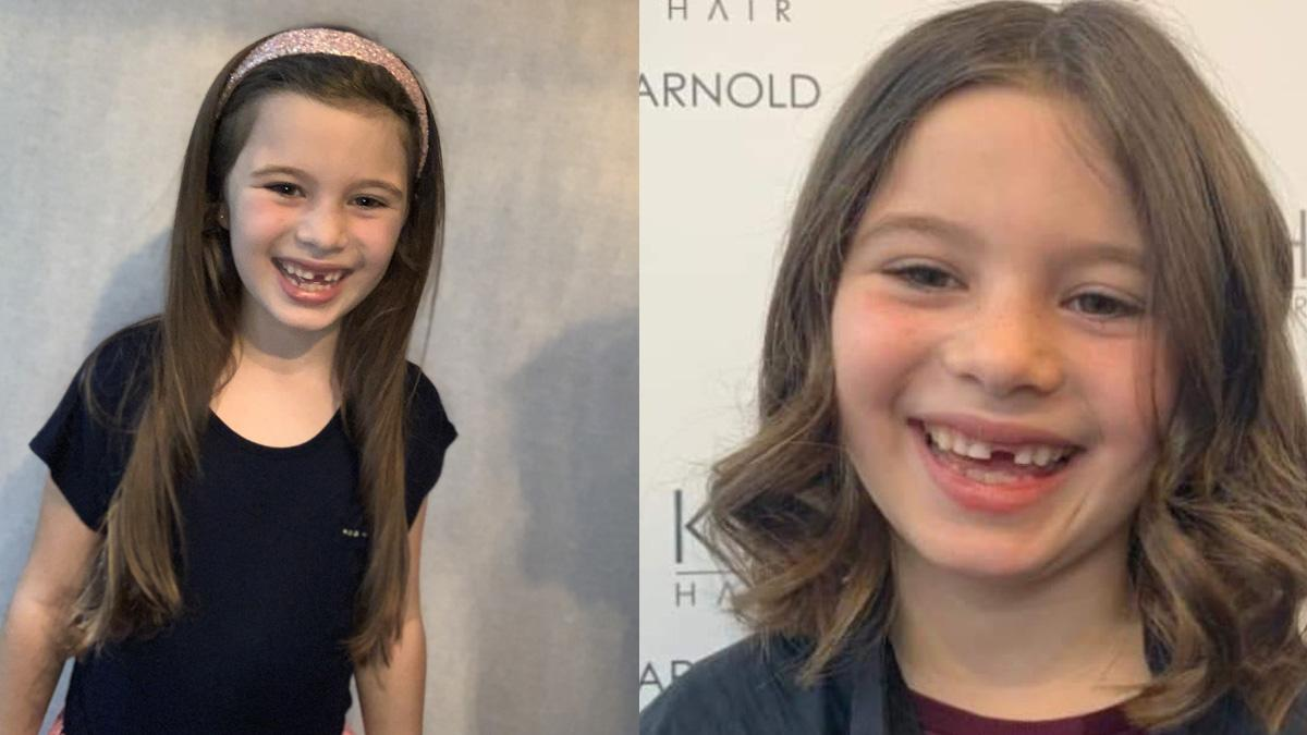 Little Princess: Mila is a cut above as she has hair chopped for cancer charity at Arnold salon