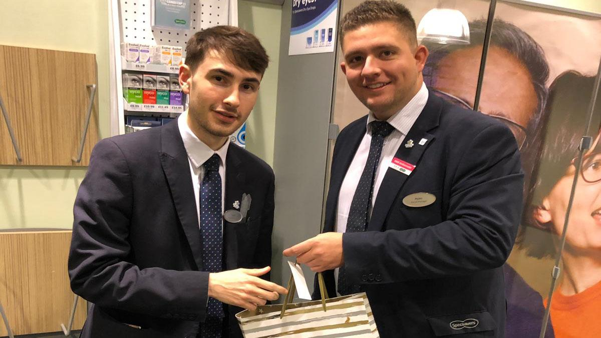 Specsavers apprentice and retail manager