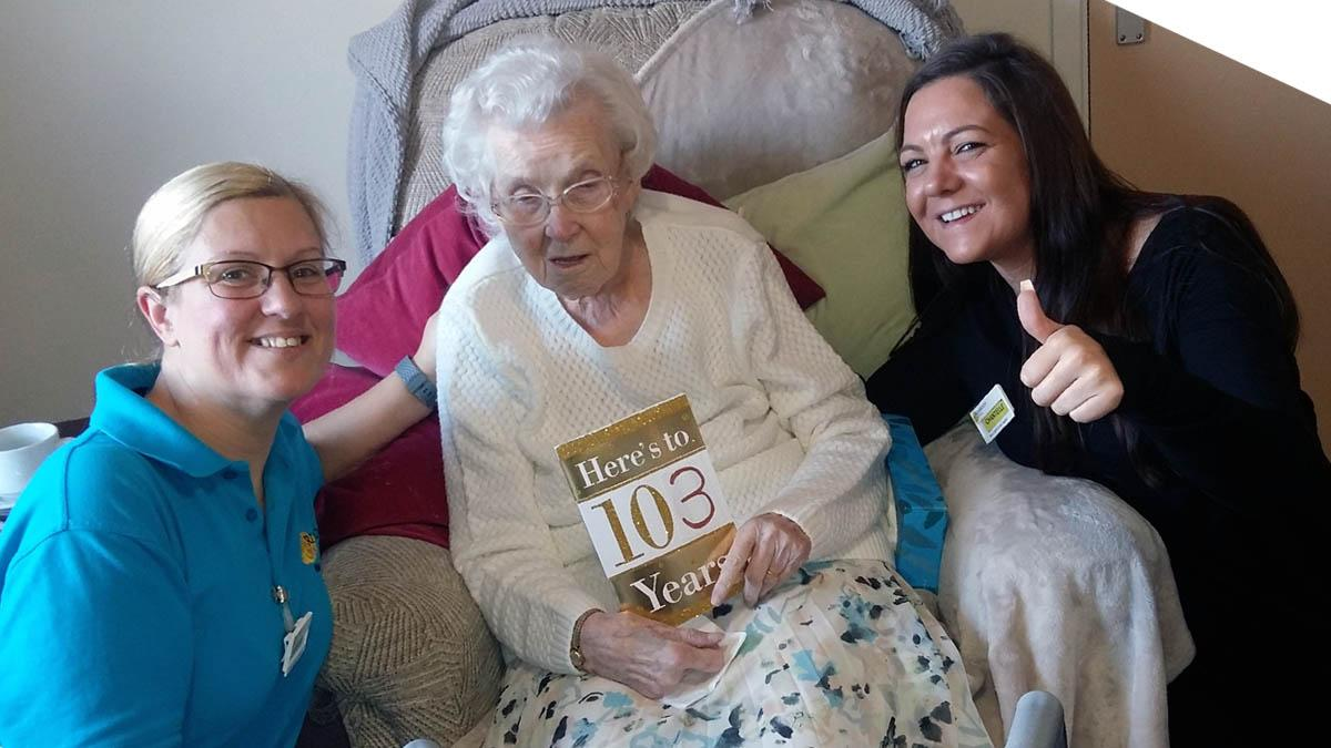 Ann celebrates remarkable 103rd birthday in style at Carlton residential home