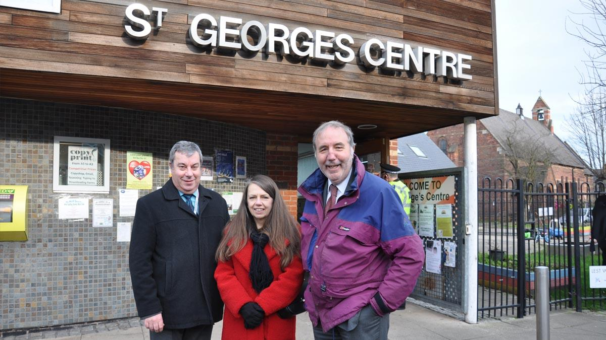 Nottinghamshire Police and Crime Commissioner Paddy Tipping goes on walkabout in Netherfield to hear concerns about crime