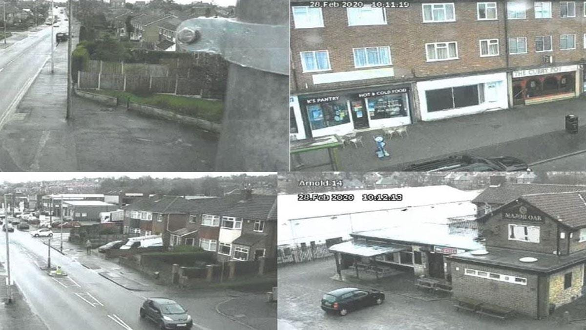 CCTV images from Rolleston Drive camera
