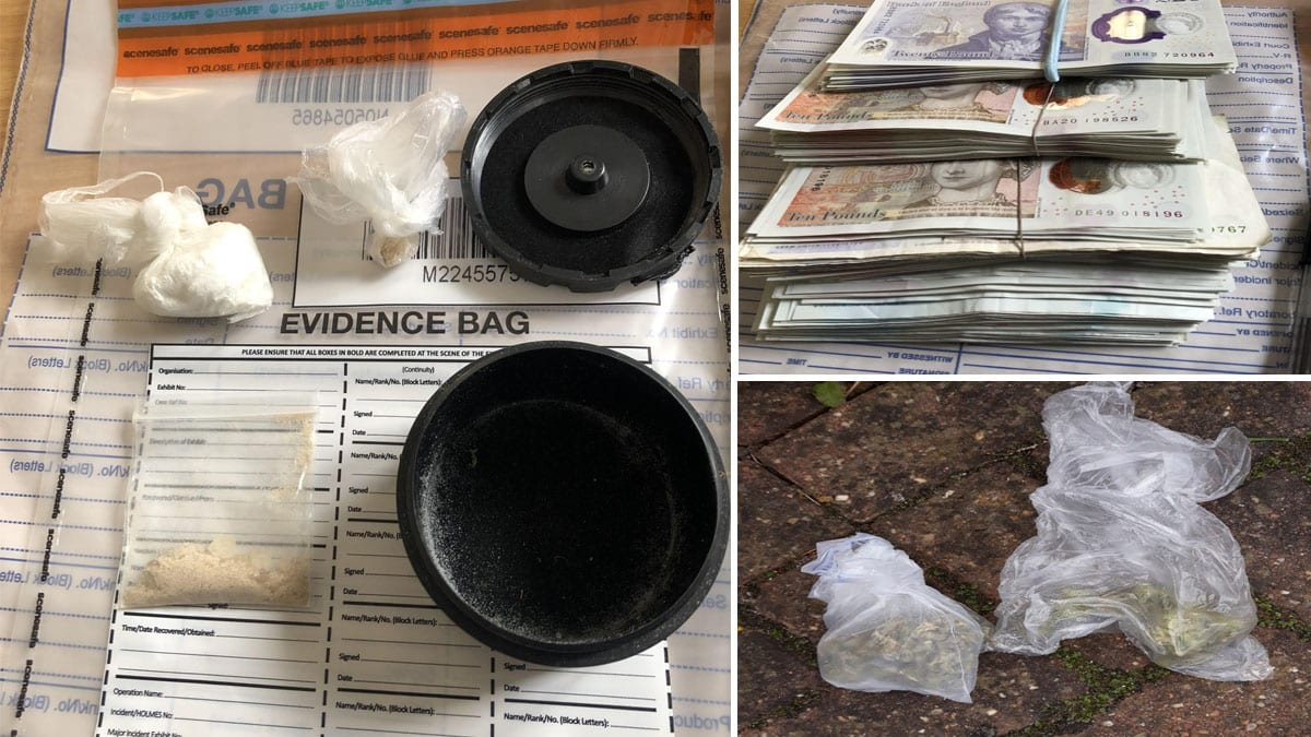 Cash and drugs discovered