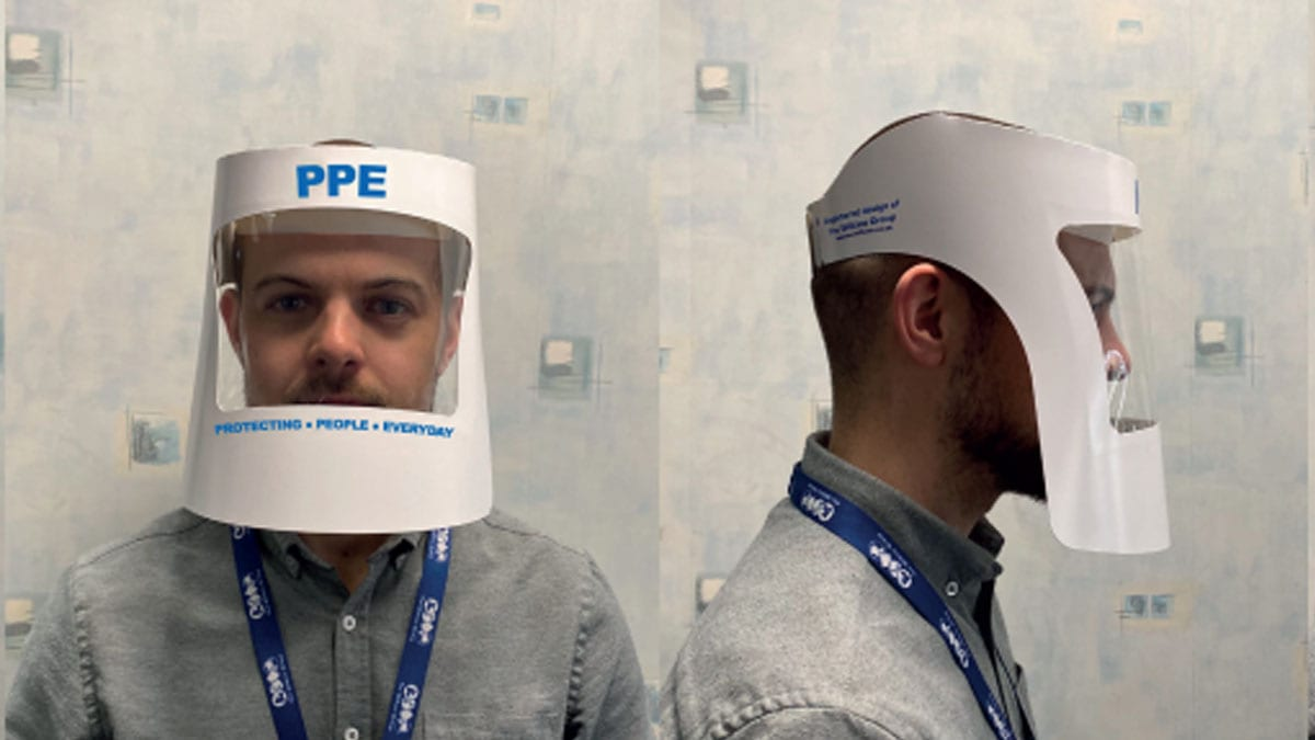 Colwick packaging firm creates innovative protective visor which could be used by frontline NHS staff tackling coronavirus