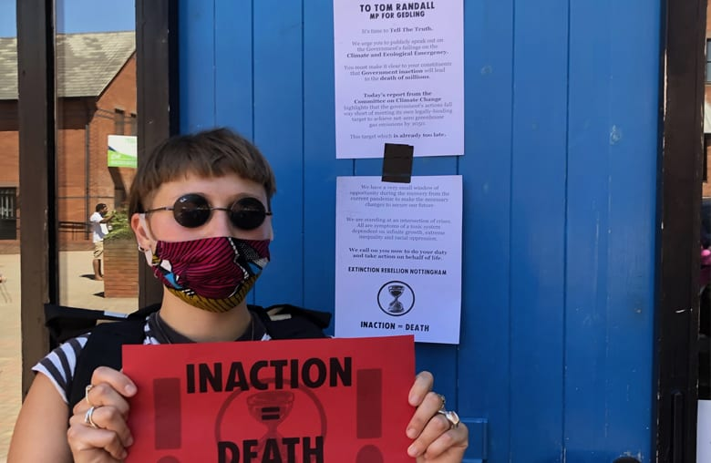 Extinction Rebellion leave clear climate message for Gedling MP