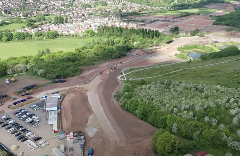 Video: Aerial drone footage shows Gedling Access Road progress