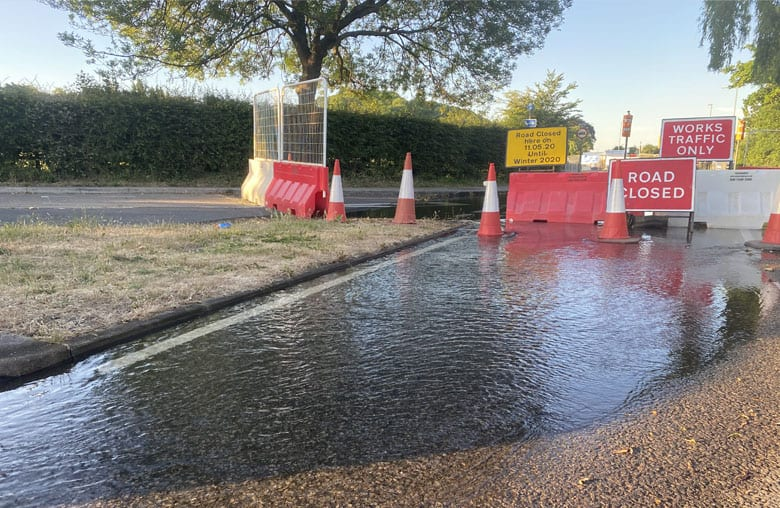 Residents without water in Carlton,Gedling,Netherfield and villages after 'third party' damages pipe near Burton Joyce