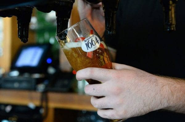 Pint being pulled