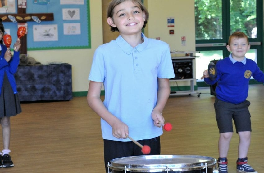 Thank you for the music: Carlton choir donate musical instruments to Arnold school