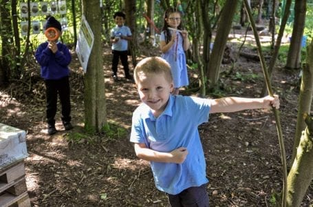 Woodland classroom at Burntstump Seely school in Arnold