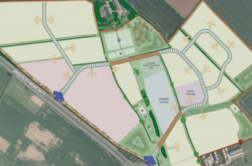 Huge interest from developers for 'new village' at Top Wighay Farm near Linby